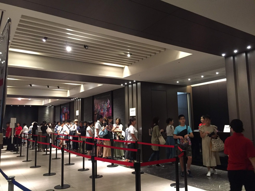 日本橋アートアクアリウム2019のエントランス。チケット購入は並ぶので事前購入がおすすめです