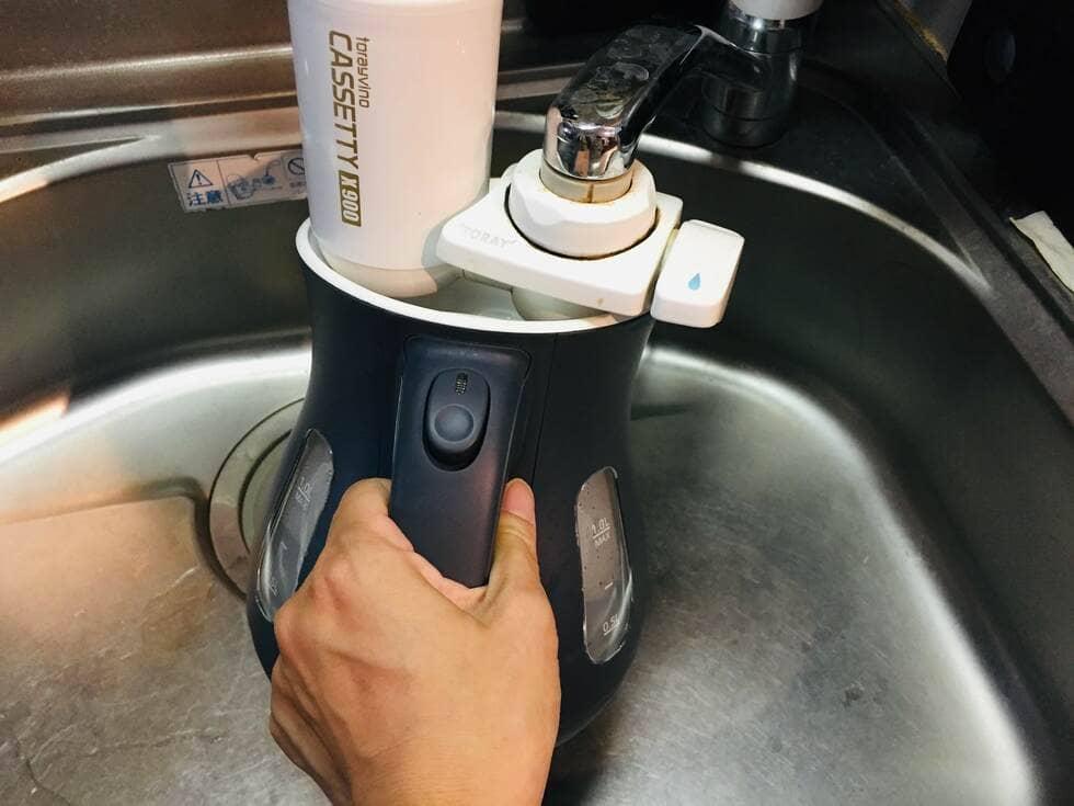 タイガー魔法瓶「わく子」PCL-A100の水量目盛り